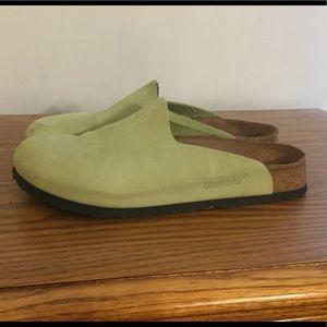 Lime green Birkenstock clogs size 9 women's